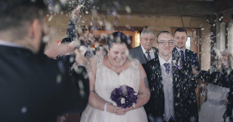 Tracey & James Wedding Video Kettering Park Northamptonshire